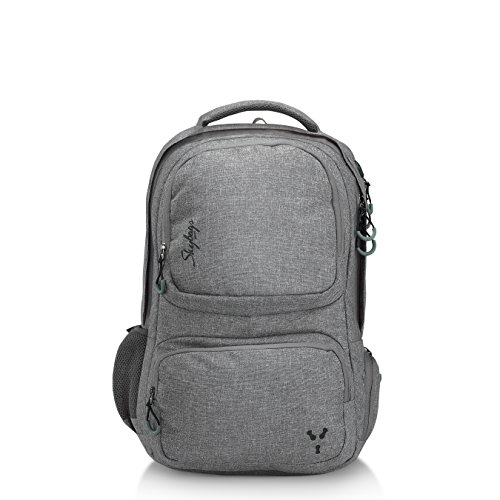 Skybags Crew 04 Grey 34 Ltrs Laptop Backpack with Raincover