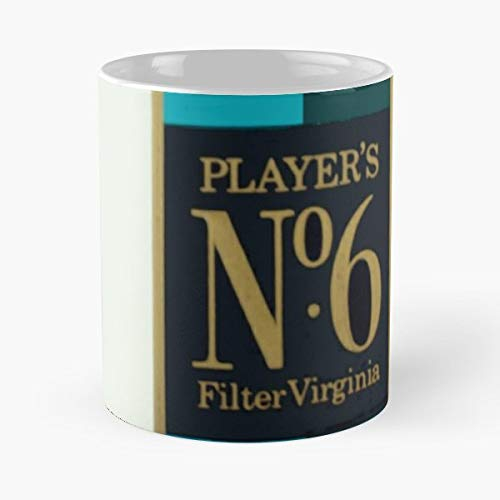 John Player Players No 6 Cigarettes Nostalgia - Coffee Mugs Unique Ceramic Novelty Cup For Holiday Days 11 Oz. (Player Cigarettes John)