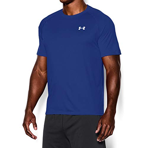 Under Armour Men's Tech Short Sleeve T-Shirt, Royal /White, Large