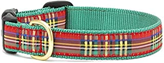"""product image for Up Country Christmas Sparkle Plaid Dog Collar (Large 15""""-21"""")"""