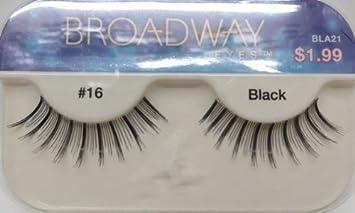 6629fbd1880 Amazon.com : Broadway Eyes By Kiss Lashes Black #16 Bla21 : Beauty