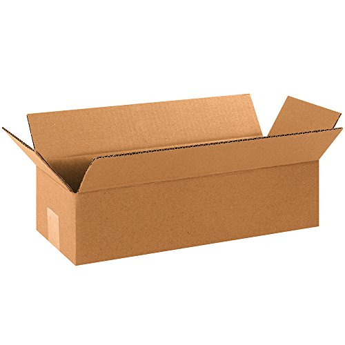 Aviditi 1664 Corrugated Boxes, Long 16' x 6' x 4', Kraft (Pack of 25)
