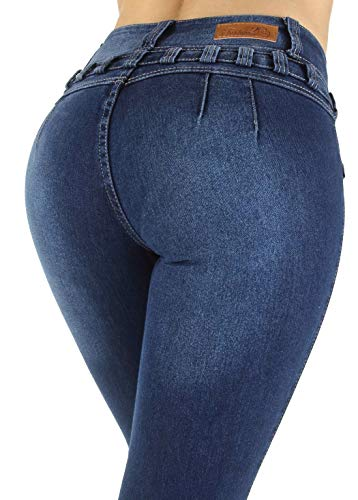 Colombian Design, High Waist, Butt Lift, Levanta Cola, Skinny Jeans in M. Blue Size 13