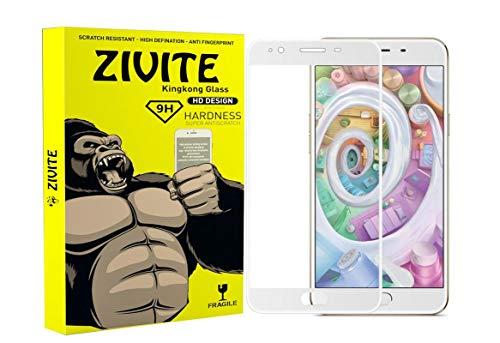 ZIVITE Oppo F1S Edge to Edge || Full Gum || Full Glue || Gorilla Tempered Glass Guard for Oppo F1S   White