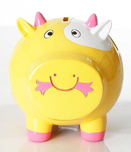 (Yellow Piggy Banks for Kids, Coin Bank - (Durable, Adorable))