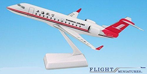 Shanghai Airlines (Shanghai Airlines CRJ200 Airplane Miniature Model Plastic Snap-Fit Scale 1:200 Part# ACA-20000C-001)