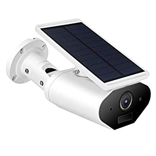 IP Camera, 960P HD Solar Powered Wireless Outdoor Security Camera, Night Vision Surveillance CCTV Camera with Motion Detection, Waterproof, Support iOS/Android System, Without Battery