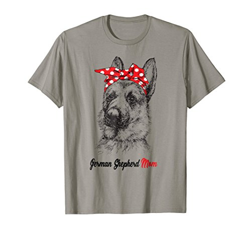 GSD Mom Bandana Dog German Shepherd Mom Women T-shirt Gift - Bandana Dog T-shirt