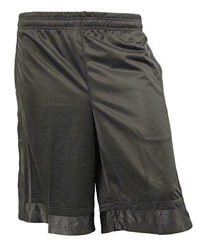 JM Mens Lightweight Basketball Short Stretch Mesh Fitness Gym Sportswear (Large, Charcoal)