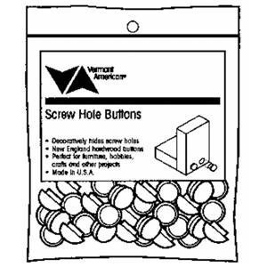 Vermont American 17134 1/2-Inch Screw Hole Buttons, 24 Pieces Per Bag by Vermont American