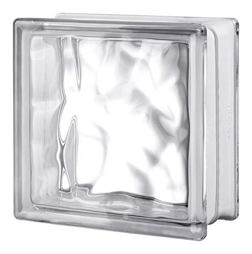 Seves 5002880 8 x 8 x 4 in. Nubio Glass Block - Pack of 8 by SEVES