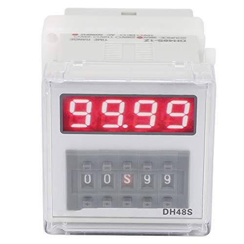 Digitales Zeitrelais, LCD Display Timer Verzögerungsrelais 0,01 Sekunden 99 Stunden / 99 Minuten für die automatische Steuerung (DH48S 1Z)