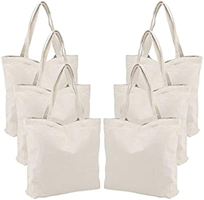 Amazon Com Canvas Tote Bag For Women 6 Pack Segarty 16 5 X13