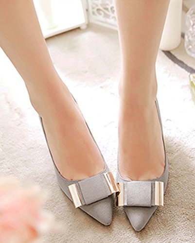 Shoes Low Elegant Aisun Gray On Slip Pumps Women's Court Top 85qI4