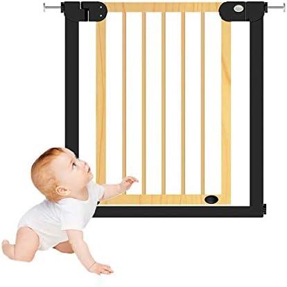 Huo Madera Barrera de Seguridad para Bebés Auto Cerrado Puerta de Escalera de Niños Multifuncional Baby Gate para Escaleras, Pasillos Y Puertas (Size : 76-83cm): Amazon.es: Hogar