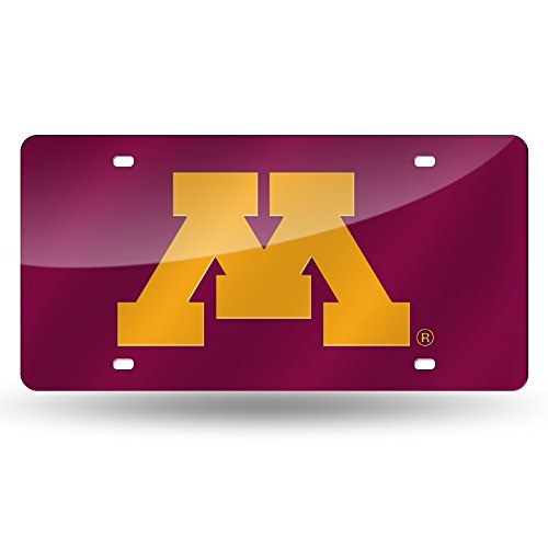 NCAA Minnesota Golden Gophers Laser Inlaid Metal License Plate Tag ()