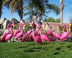 30 Pink Yard Flamingos, Pink Flamingo Yard Ornaments for $<!--$179.95-->