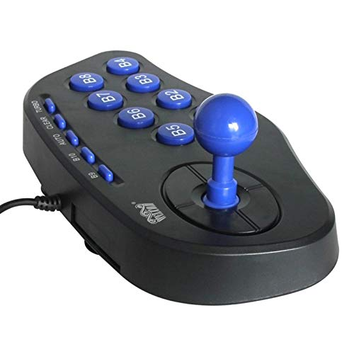 USB PC Street Fighter Joystick Double Shock Arcade Game Stick Gamepad Controller Gaming Game Pad for Windows ()