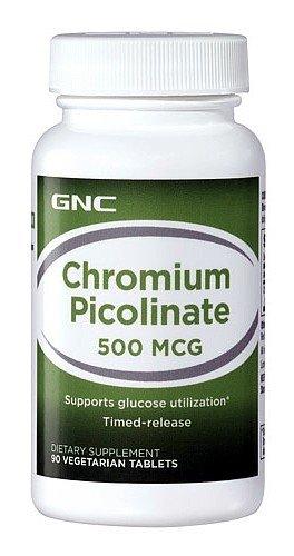 GNC Хром пиколинат 500, 90 Вегетарианские Таблетки