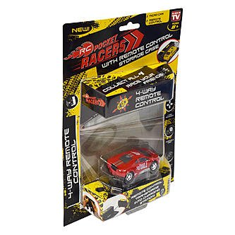 (As Seen on TV RC Pocket Racers Remote Controlled Micro Race Cars Vehicle, Bull Red )