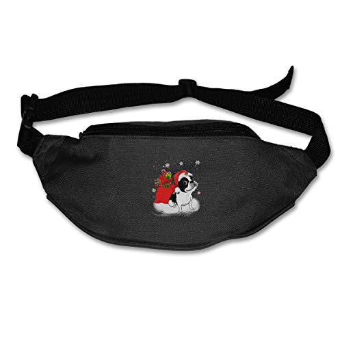 Christmas Santa Boston Terrier Fashion Sport Waist Bag Pack Adjustable Traveling Men]()