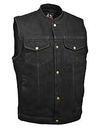 Milwaukee Performance DM2238-2X-BLACK Men's Denim Club Style Vest Black, XX-Large
