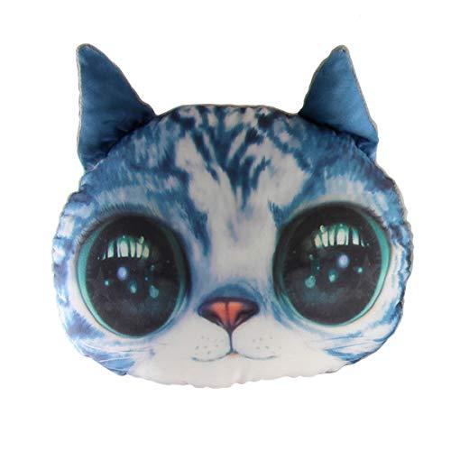 Almohada para el cuello del asiento del coche, diseño de gato en 3D con espuma viscoelástica, para viajes, cervical, 2 en...