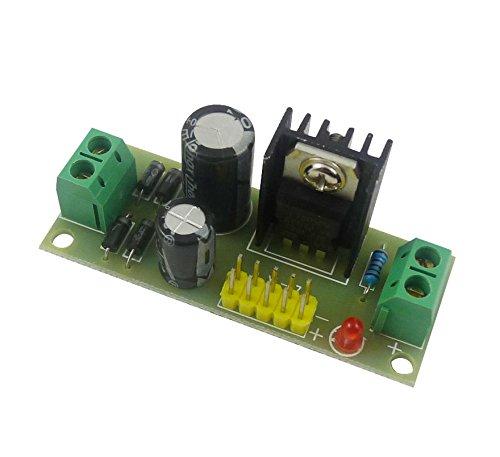 Aihasd 5PCS 5V L7805 LM7805 Terminal Voltaje Estabilizador M/ódulo de Poder para Arduino