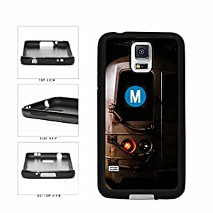Personalized NYC Train Custom Letter M TPU RUBBER SILICONE Phone Case Back Cover Samsung Galaxy S5 I9600 includes BleuReign(TM) Cloth and Warranty Label