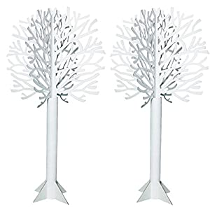 Die-cut White Tree - 7 Feet, 4 Inches High x 46 Inches Diameter 38