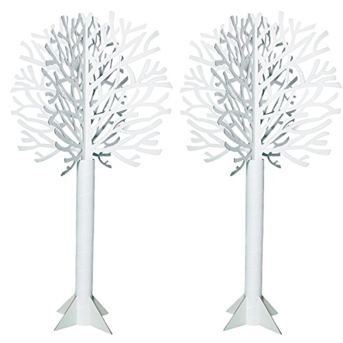 Die-cut White Tree - 7 Feet, 4 Inches High x 46 Inches Diameter
