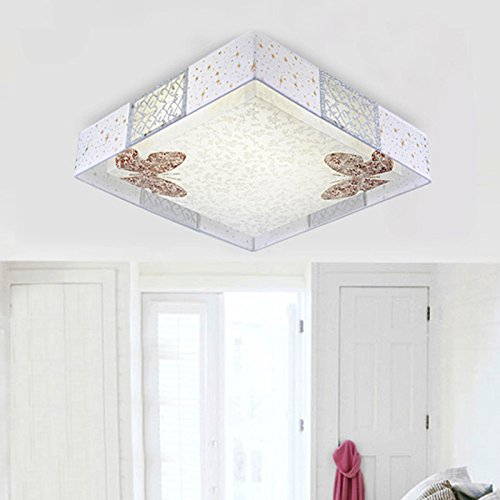 48cm Modern cloth led ceiling lights fashion brief faux butterfly ceiling light lamp lighting fixture dining ceiling lamps FG877 ( Size : Warm light )