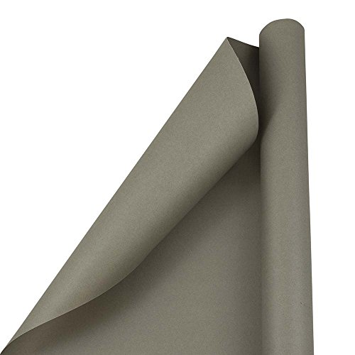 JAM PAPER Gift Wrap - Matte Wrapping Paper - 25 Sq Ft - Matte Slate Grey - Roll Sold Individually Block Out Matte Paper