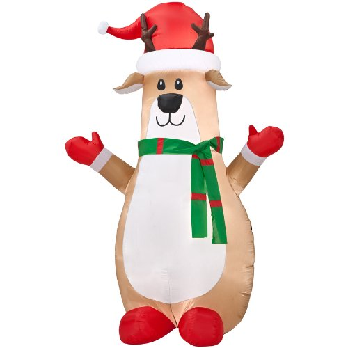 Gemmy Inflatable Airblown Reindeer Outdoor Christmas Deco...