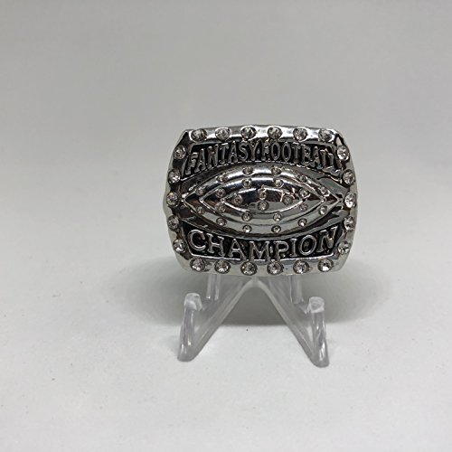 2016 Fantasy Football High Quality Replica Football Championship Ring Size 10.5-Silver Color US SHIPPING by The...