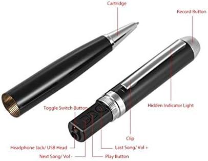 TOOGOO Sk-025 16 Gb Digital Diktierger?T Stift Ton Audio Diktierger?T mit USB Kabel Ohrst?Psel f/ür Vortrag Klasse Treffen Interview
