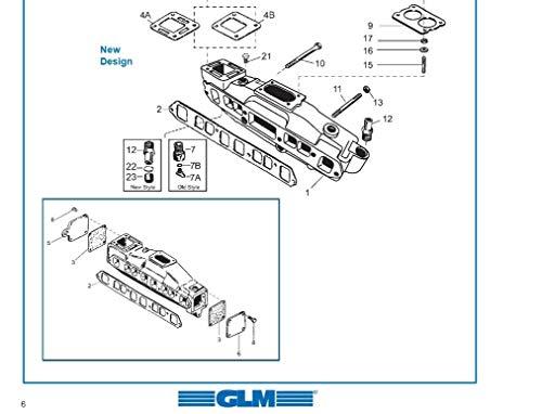 MERCRUISER EXHAUST MANIFOLD 3.0L LX 51214; Mercury Part Number 806867A12 1990 /& UP GLM Part Number
