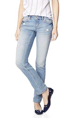 Aeropostale Womens Destructed Skinny Medium Wash Jeans 00 Short Blue
