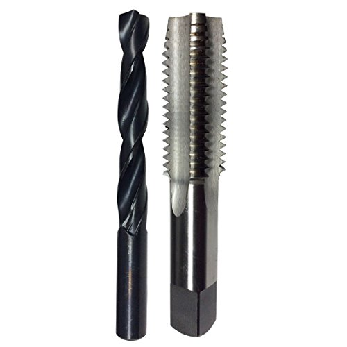 Drill America POUM5X.8 Pouf Series M5 x .8 HSS Plug Tap and 4.20mm HSS Drill Bit in Plastic Case, Plug Chamfer, Right Hand Cut, High Speed Steel, Uncoated (Bright) Coating