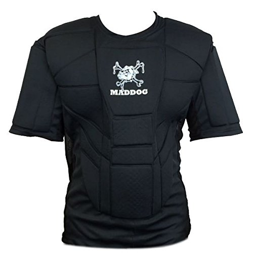 Maddog Sports Pro Padded Chest Protector for Paintball and Airsoft - Youth - Black (Youth Chest Protector Shirt)