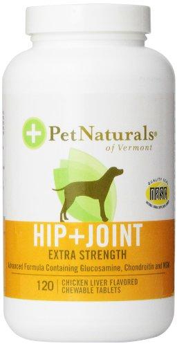 Pet Naturals Hip & Joint comprimés, Extra Strength, 120-Count Bottle