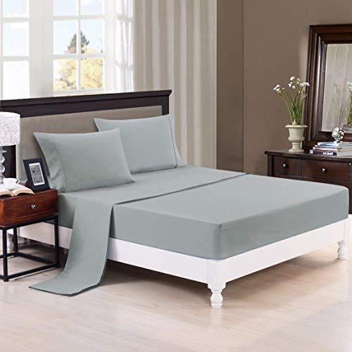 - Authentic Heavy Quality Super Soft Bed Sheets 1200-Thread-Count Egyptian Cotton 4-Pieces Sheet Set Fits 13-15