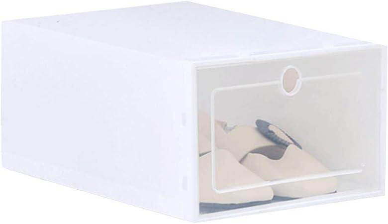 Sunlera Zapatos Flip Caja Transparente del Zapato del cajón Caja de plástico Cajas de Almacenamiento apilable Organizador del Caso: Amazon.es: Hogar
