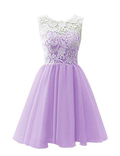 Homecoming Graduation Prom Women's Dress Short Lace Dreamdress Lilac Party ZSq4W