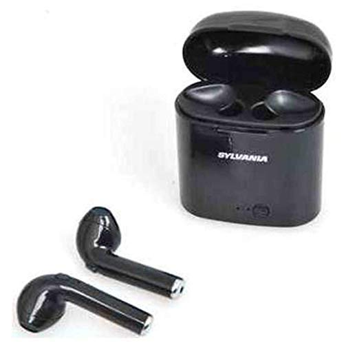 Sylvania Seb602 in-Ear Bluetooth True Wire-Free Earbuds Microphone & Charging Case