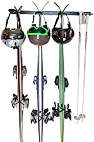 Insight Wall Mounted Ski Rack or Utility Rack - for 4 Pairs of Skis, or Garden & Lawn T