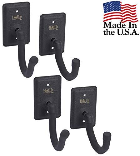 Hold Up Displays Horizontal Gun Rack Storage and Shotgun Hooks Store Any Rifle Shotgun and Bow - Heavy Duty Steel - (2 Pack) Made in USA