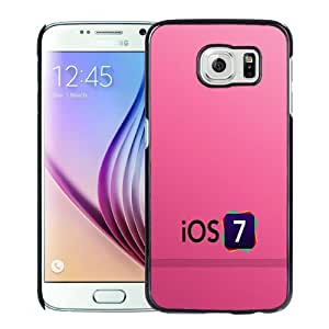 Popular And Durable Designed Case For Samsung Galaxy S6 With iOS 7 Logo with Pink Background Phone Case