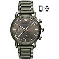 Emporio Armani Mens ART3015 Analog Display Quartz Green Smart Watch