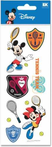 A Touch Of Disney Dimensional Sticker-Mickey Mouse & Minnie Mouse Tennis